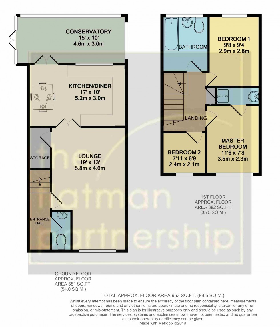 Floorplan for Aldenham Close, Slough, Berkshire